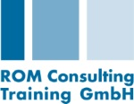 Logo and link for ROM Consulting & Training GmbH